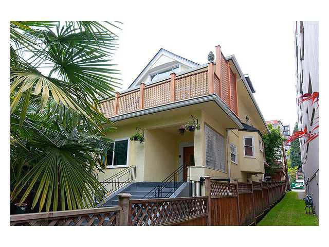Main Photo: 1109 HARWOOD Street in Vancouver: West End VW House Fourplex for sale (Vancouver West)  : MLS®# V1005139