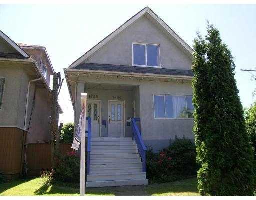 Main Photo: 1734 - 1738 E 1ST AV in : Grandview VE House for sale : MLS®# V656929