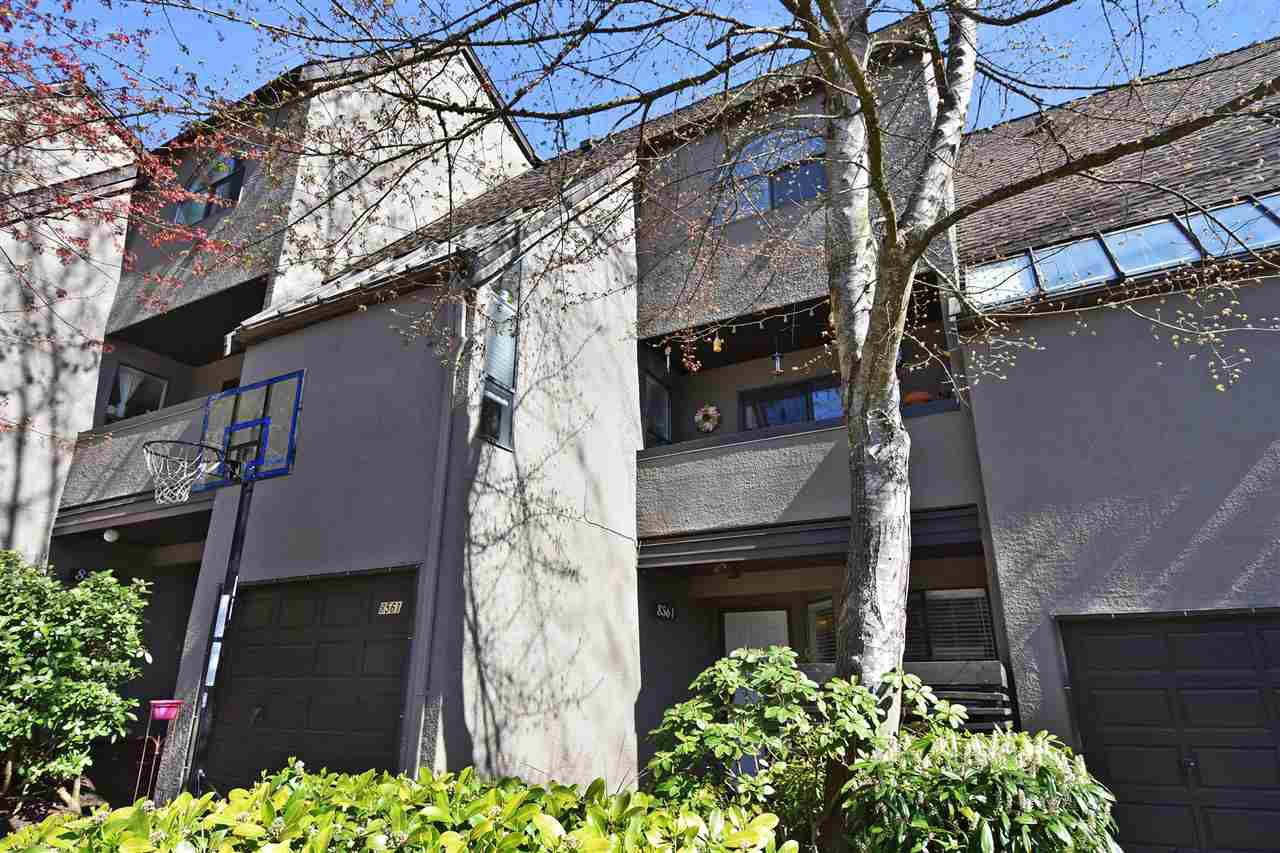 Main Photo: 8561 WOODRIDGE PLACE in Burnaby: Forest Hills BN Townhouse for sale (Burnaby North)  : MLS®# R2262331