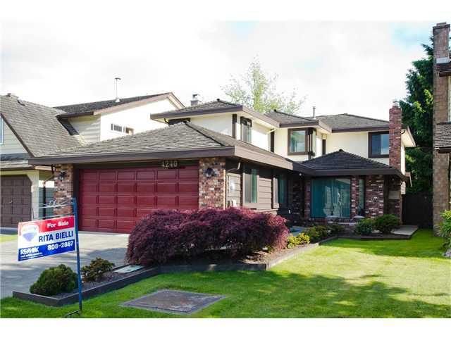 "Main Photo: 4240 WALLER Drive in Richmond: Boyd Park House for sale in ""BOYD PARK"" : MLS®# V1012564"