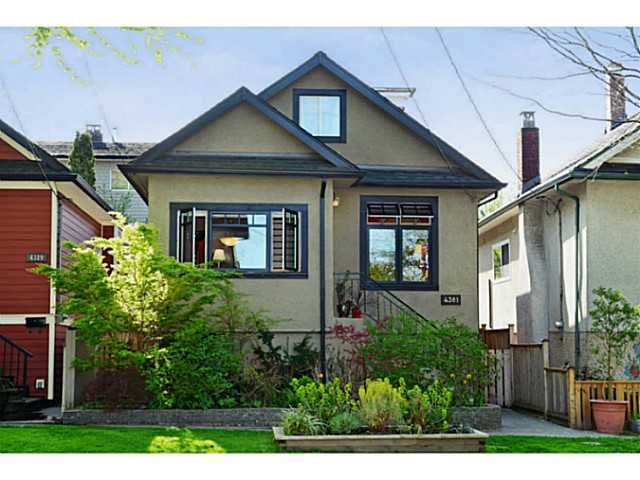 "Main Photo: 4381 QUEBEC Street in Vancouver: Main House for sale in ""MAIN STREET"" (Vancouver East)  : MLS®# V1003822"