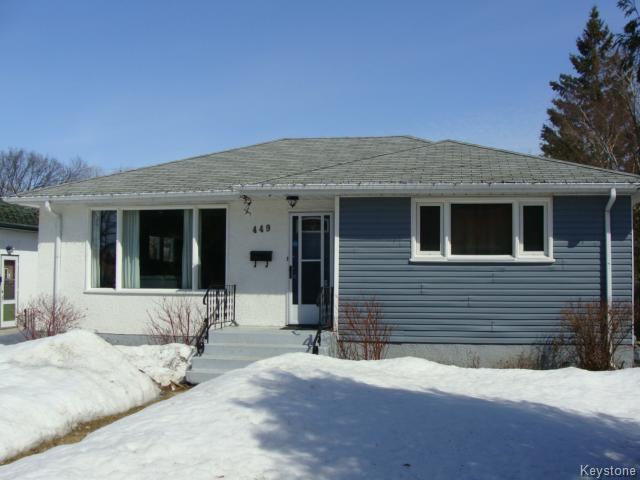 Main Photo: 449 Kimberly Avenue in Winnipeg: East Kildonan Single Family Detached for sale (North East Winnipeg)  : MLS®# 1406327
