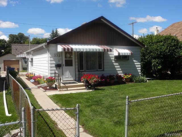 Main Photo: 332 Hampton Street in WINNIPEG: St James Residential for sale (West Winnipeg)  : MLS®# 1316408