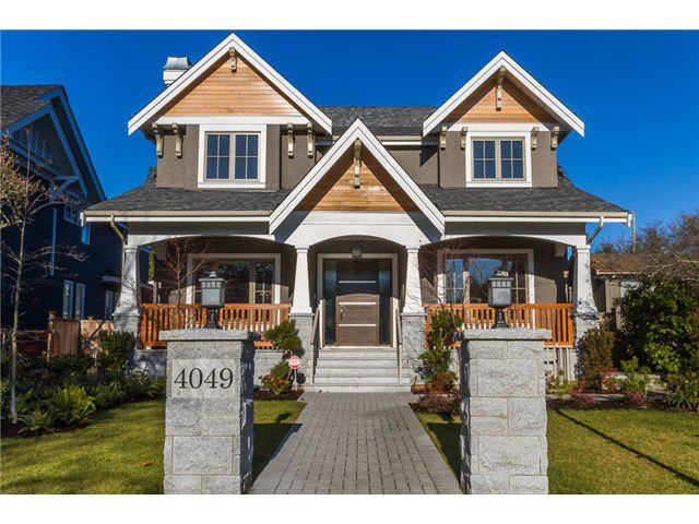 Main Photo: 4043 W39th Avenue in Vancouver: Dunbar House for sale (Vancouver West)  : MLS®# V1040292