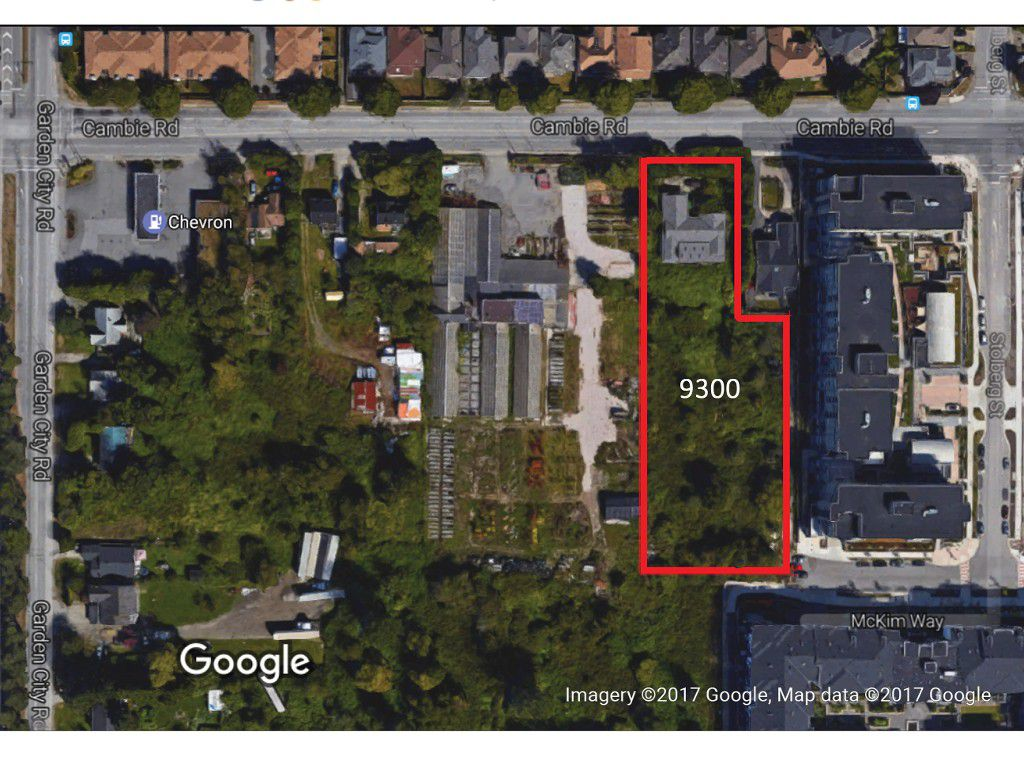 9300 Cambie Road Aerial View