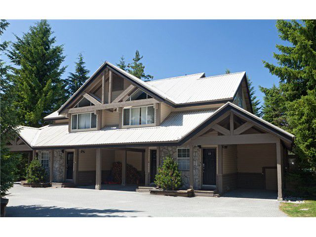 Main Photo: 30 4822 Spearhead Drive in Whistler: Benchlands Townhouse for sale : MLS®# V1029238