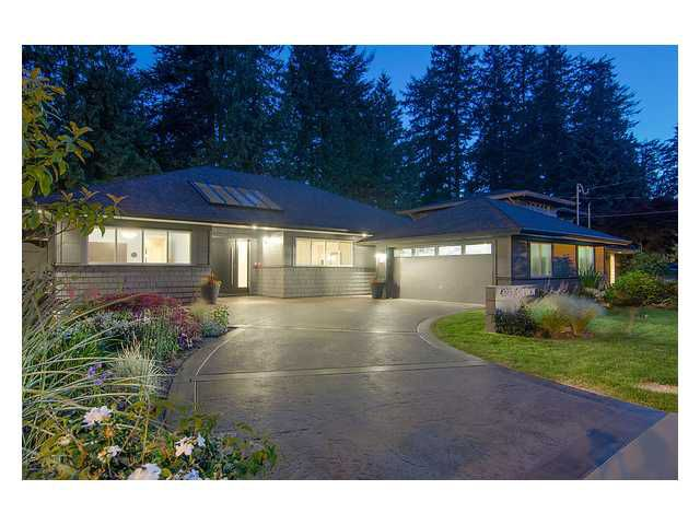 Main Photo: 4373 CHEVIOT Road in North Vancouver: Forest Hills NV House for sale : MLS®# V963473