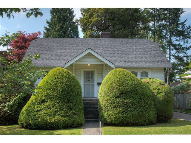 Main Photo: 413 SEVENTH AV in New Westminster: GlenBrooke North House for sale : MLS®# V1126096