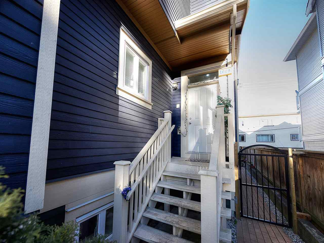 Main Photo: 1609 FRANCES STREET in Vancouver: Hastings House 1/2 Duplex for sale (Vancouver East)  : MLS®# R2131404