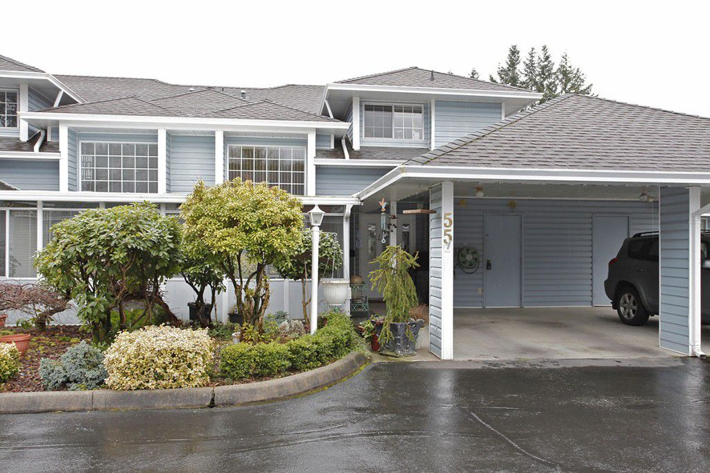 """Main Photo: 55 34959 OLD CLAYBURN Road in Abbotsford: Abbotsford East Townhouse for sale in """"Crown Point Villas"""" : MLS®# F1305184"""