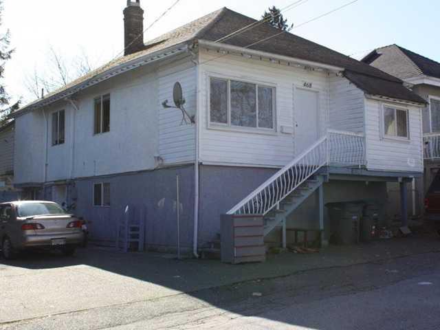 Main Photo: 468 E 13TH AV in : Mount Pleasant VE House for sale : MLS®# V931169