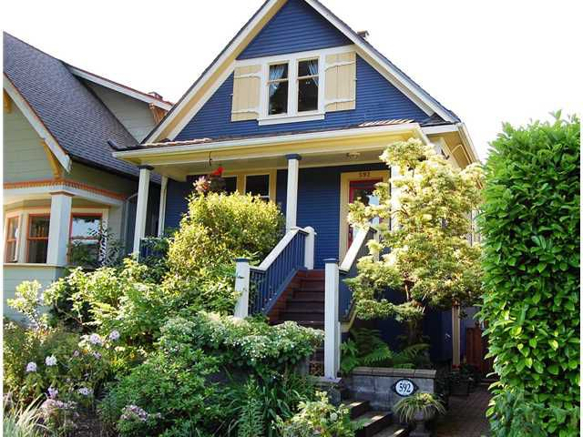 """Main Photo: 592 W 18TH Avenue in Vancouver: Cambie House for sale in """"DOUGLAS PARK"""" (Vancouver West)  : MLS®# V970120"""