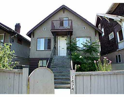 Main Photo: 1474 E 8TH Avenue in Vancouver: Grandview VE House Triplex for sale (Vancouver East)  : MLS®# V700451