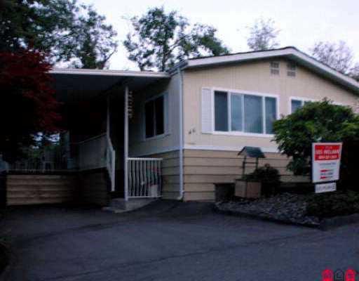"Main Photo: 46 13650 80 AV in Surrey: Bear Creek Green Timbers Manufactured Home for sale in ""LEESIDE"" : MLS®# F2516360"