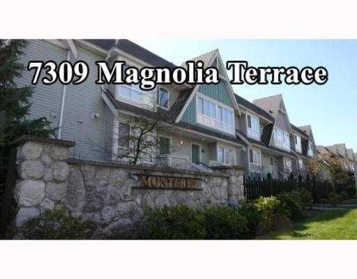 """Main Photo: 7309 MAGNOLIA Terrace in Burnaby: Middlegate BS Townhouse for sale in """"MONTEREY"""" (Burnaby South)  : MLS®# V638772"""
