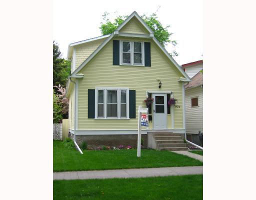 Main Photo: 931 SHERBURN Street in WINNIPEG: West End / Wolseley Residential for sale (West Winnipeg)  : MLS®# 2809206