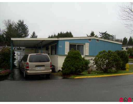 """Main Photo: 8220 KING GEORGE Highway in Surrey: Bear Creek Green Timbers Manufactured Home for sale in """"Crostway Bays"""" : MLS®# F2705685"""