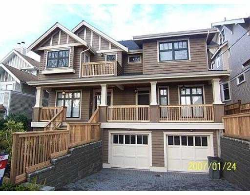"Main Photo: 2349 8TH Ave in Vancouver: Kitsilano House 1/2 Duplex for sale in ""KITSILANO"" (Vancouver West)  : MLS®# V629618"