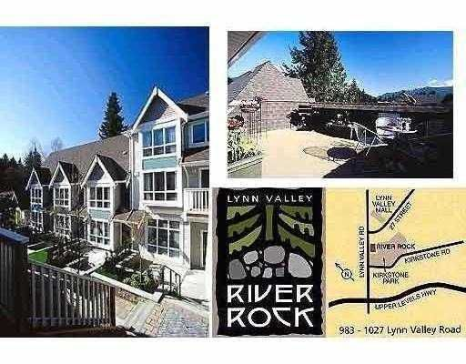"Main Photo: 3 1015 LYNN VALLEY Road in North_Vancouver: Lynn Valley Townhouse for sale in ""RIVERROCK"" (North Vancouver)  : MLS®# V656993"