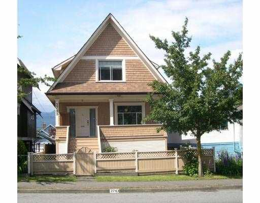 Main Photo: 2743 DUNDAS ST in Vancouver: Hastings East House for sale (Vancouver East)  : MLS®# V541947