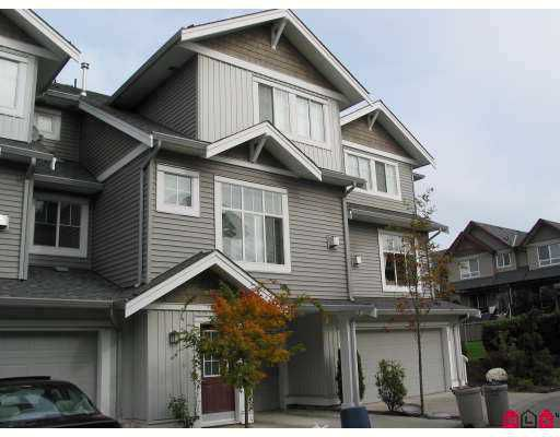 "Main Photo: 29 16760 61ST Avenue in Surrey: Cloverdale BC Townhouse for sale in ""HARVEST LANDING"" (Cloverdale)  : MLS®# F2726281"