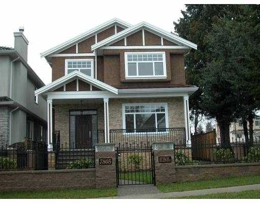 Main Photo: 7805 HUDSON Street in Vancouver: Marpole House for sale (Vancouver West)  : MLS®# V681858