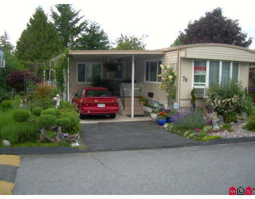 """Main Photo: 70 7850 KING GEORGE Highway in Surrey: East Newton Manufactured Home for sale in """"Bear Creek Glen"""" : MLS®# F2816857"""