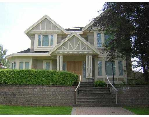 Main Photo: 6070 HUDSON Street in Vancouver: South Granville House for sale (Vancouver West)  : MLS®# V655819
