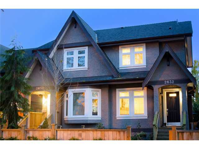Main Photo: 2632 W 6th Avenue in Vancouver: Kitsilano House 1/2 Duplex for sale (Vancouver West)  : MLS®# V920084