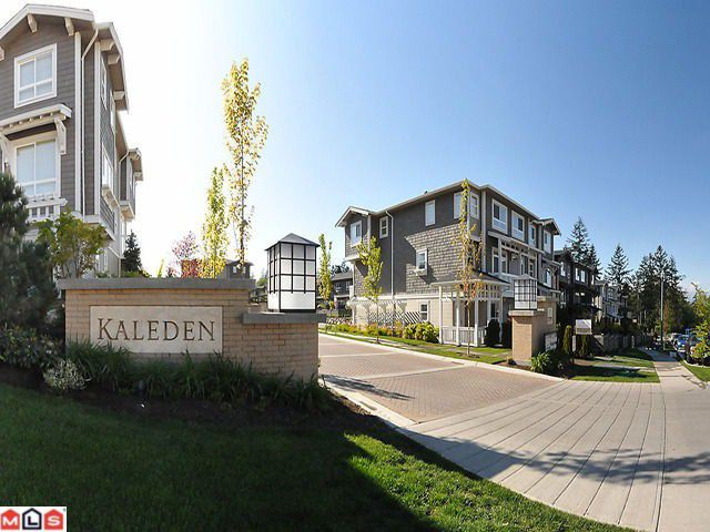 "Main Photo: 84 2729 158TH Street in Surrey: Grandview Surrey Townhouse for sale in ""Kaleden"" (South Surrey White Rock)  : MLS®# F1013754"
