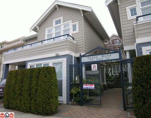 "Main Photo: 3 15161 PROSPECT Avenue: White Rock Townhouse for sale in ""Ocean Wynd"" (South Surrey White Rock)  : MLS®# F1002733"