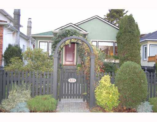 "Main Photo: 829 W 17TH Avenue in Vancouver: Cambie House for sale in ""DOUGLAS PARK"" (Vancouver West)  : MLS®# V748707"
