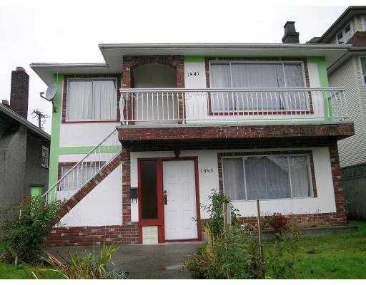 Main Photo: 1941 1943 E 12TH AV in Vancouver: Grandview VE House Duplex for sale (Vancouver East)  : MLS®# V563888