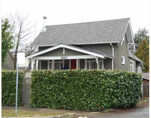 "Main Photo: 3563 HEATHER Street in Vancouver: Cambie House for sale in ""DOUGLAS PARK"" (Vancouver West)  : MLS®# V753174"