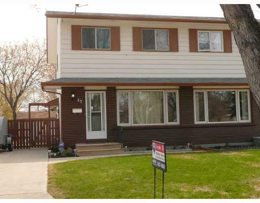Main Photo: 17 TOPAZ Road in WINNIPEG: Westwood / Crestview Residential for sale (West Winnipeg)  : MLS®# 2907901