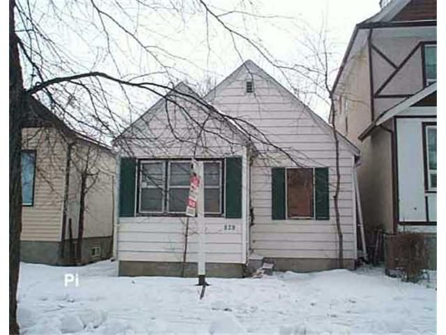 Main Photo: 829 ASHBURN Street in WINNIPEG: West End / Wolseley Residential for sale (West Winnipeg)  : MLS®# 2518887