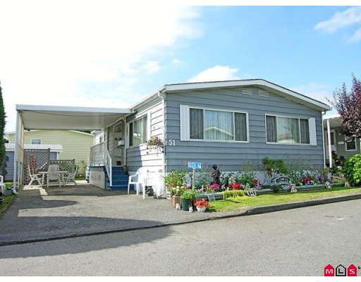 "Main Photo: 51 8254 134TH Street in Surrey: Queen Mary Park Surrey Manufactured Home for sale in ""WESTWOOD ESTATES"" : MLS®# F2828467"