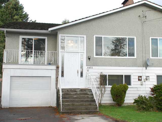 Main Photo: 6651 WILLIAMS Road in Richmond: Woodwards House 1/2 Duplex for sale : MLS®# V859570