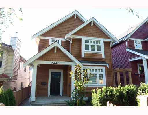 Main Photo: 2085 E 2ND Avenue in Vancouver: Grandview VE House 1/2 Duplex for sale (Vancouver East)  : MLS®# V780346