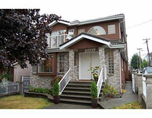 Main Photo: 3481 WELLINGTON Avenue in Vancouver: Collingwood VE House for sale (Vancouver East)  : MLS®# V780802