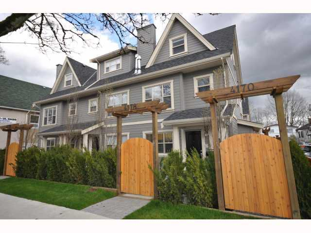 Main Photo: 4178 WELWYN Street in Vancouver: Victoria VE Townhouse for sale (Vancouver East)  : MLS®# V817825