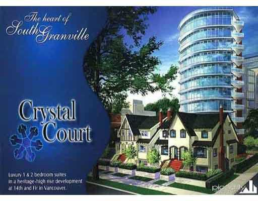 """Main Photo: 1002 2965 FIR Street in Vancouver: Fairview VW Condo for sale in """"CRYSTAL COURT"""" (Vancouver West)  : MLS®# V781798"""