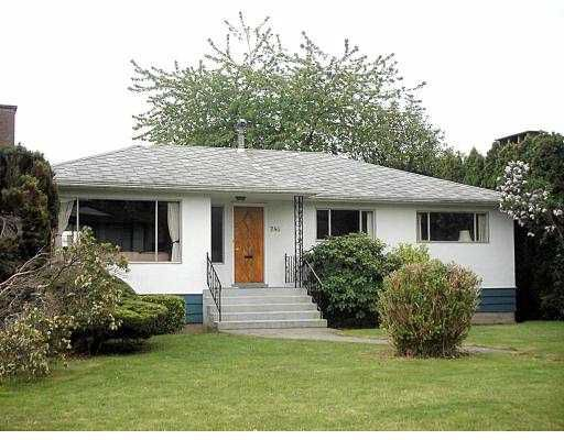 Main Photo: 744 W 53RD AV in Vancouver: South Cambie House for sale (Vancouver West)  : MLS®# V536816