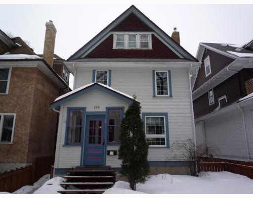 Main Photo: 183 CHESTNUT Street in WINNIPEG: West End / Wolseley Residential for sale (West Winnipeg)  : MLS®# 2903337