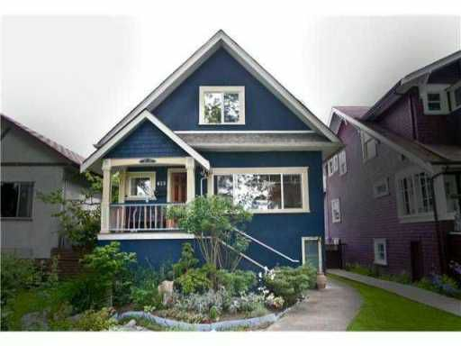 Main Photo: 823 W 20TH Avenue in Vancouver: Cambie House for sale (Vancouver West)  : MLS®# V851816