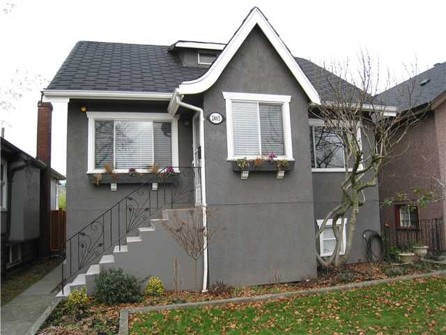Main Photo: 2465 WILLIAM Street in Vancouver: Renfrew VE House for sale (Vancouver East)  : MLS®# V867011