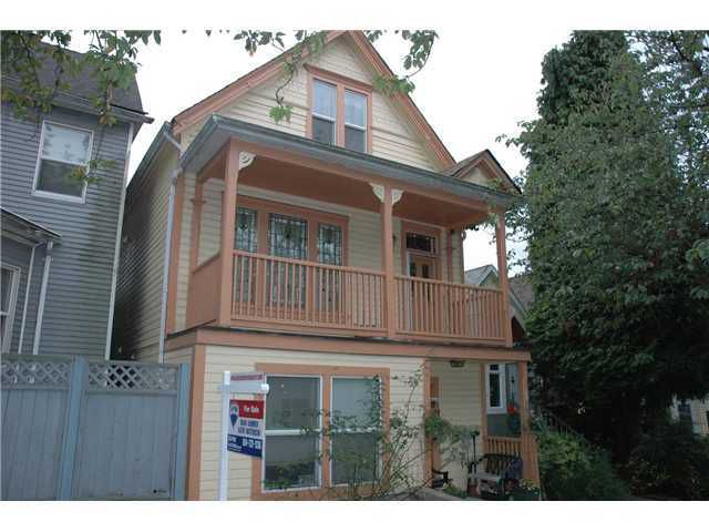 Main Photo: 1030 E PENDER Street in Vancouver: Mount Pleasant VE House for sale (Vancouver East)  : MLS®# V856146