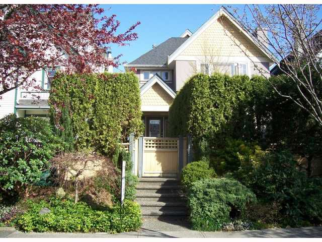 Main Photo: 1819 CREELMAN Avenue in Vancouver: Kitsilano House 1/2 Duplex for sale (Vancouver West)  : MLS®# V815473