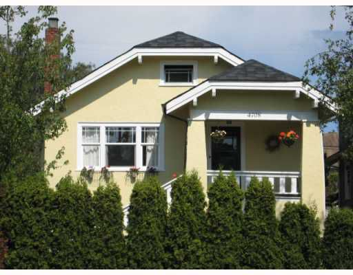 Main Photo: 4708 DUNBAR Street in Vancouver: Dunbar House for sale (Vancouver West)  : MLS®# V772956
