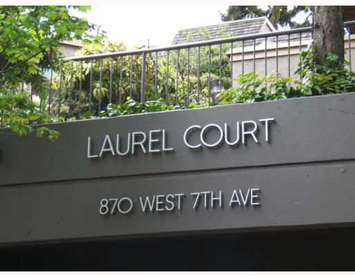 "Main Photo: 3 870 W 7TH Avenue in Vancouver: Fairview VW Condo for sale in ""LAUREL COURT"" (Vancouver West)  : MLS®# V766845"